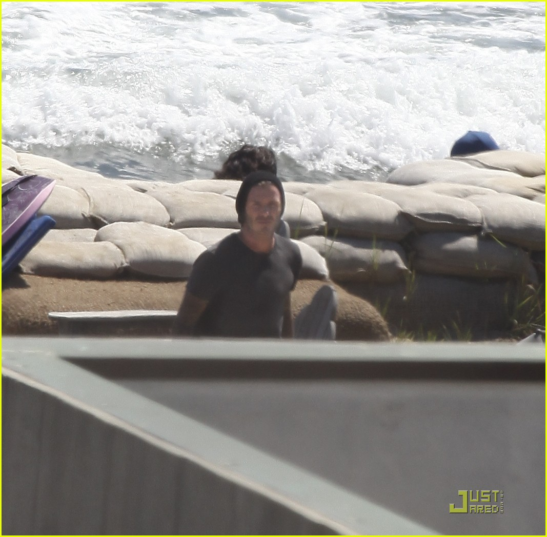 david beckham shirtless surfing  16
